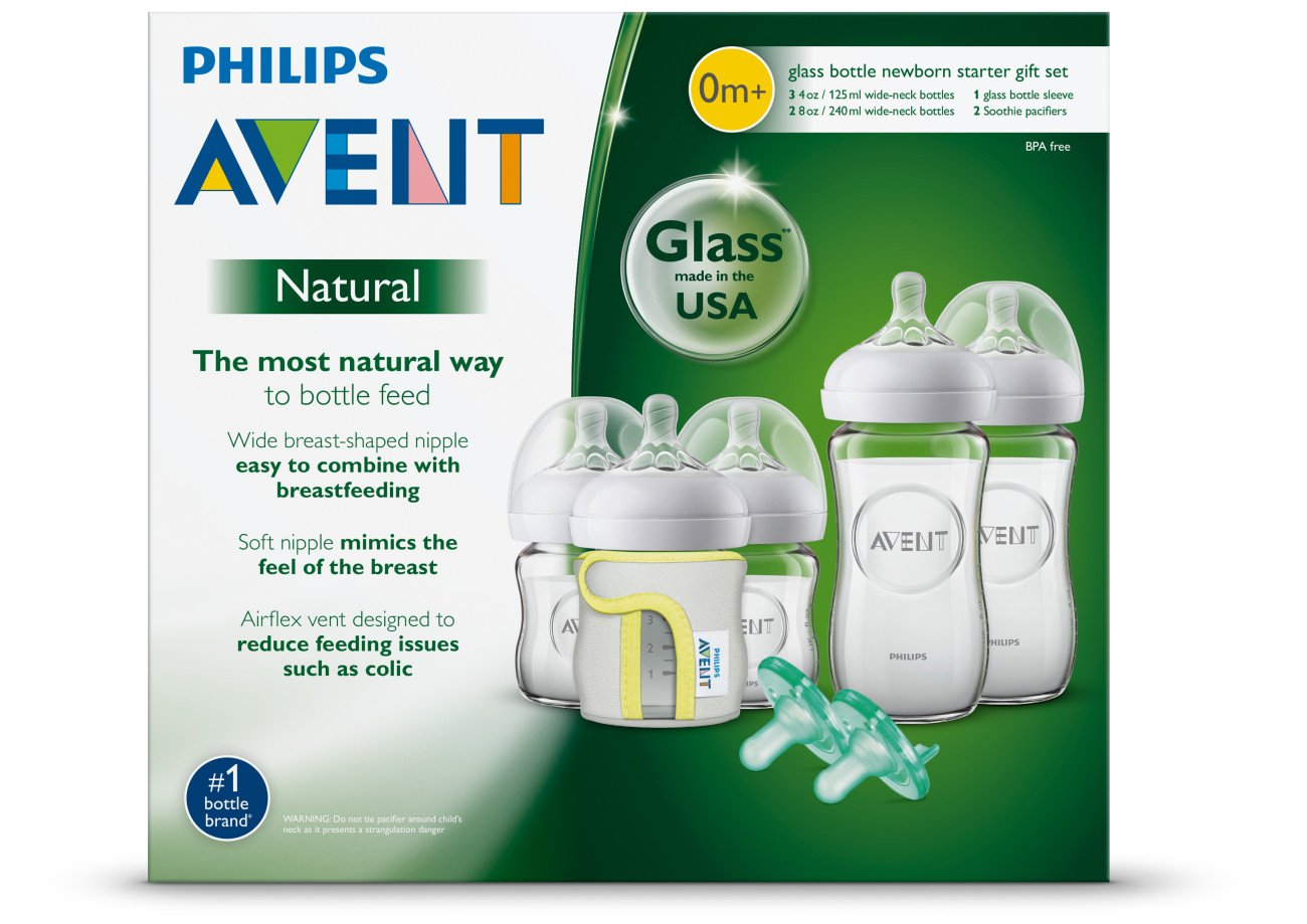 Philips Avent Natural Glass Bottle Baby Gift Set, SCD201/01 by Philips AVENT (Image #8)