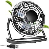 aceyoon USB 扇風機 小型 4枚羽根 卓上 ミニ ファン 360度調整 冷却 携行便利 コンパクト こがた MINI FAN 強力 1800PRM USBケーブル 1.1M 長い設計 オフィス / 部屋 / 車内 / ベッドルーム などに活躍 サイレント クーラー