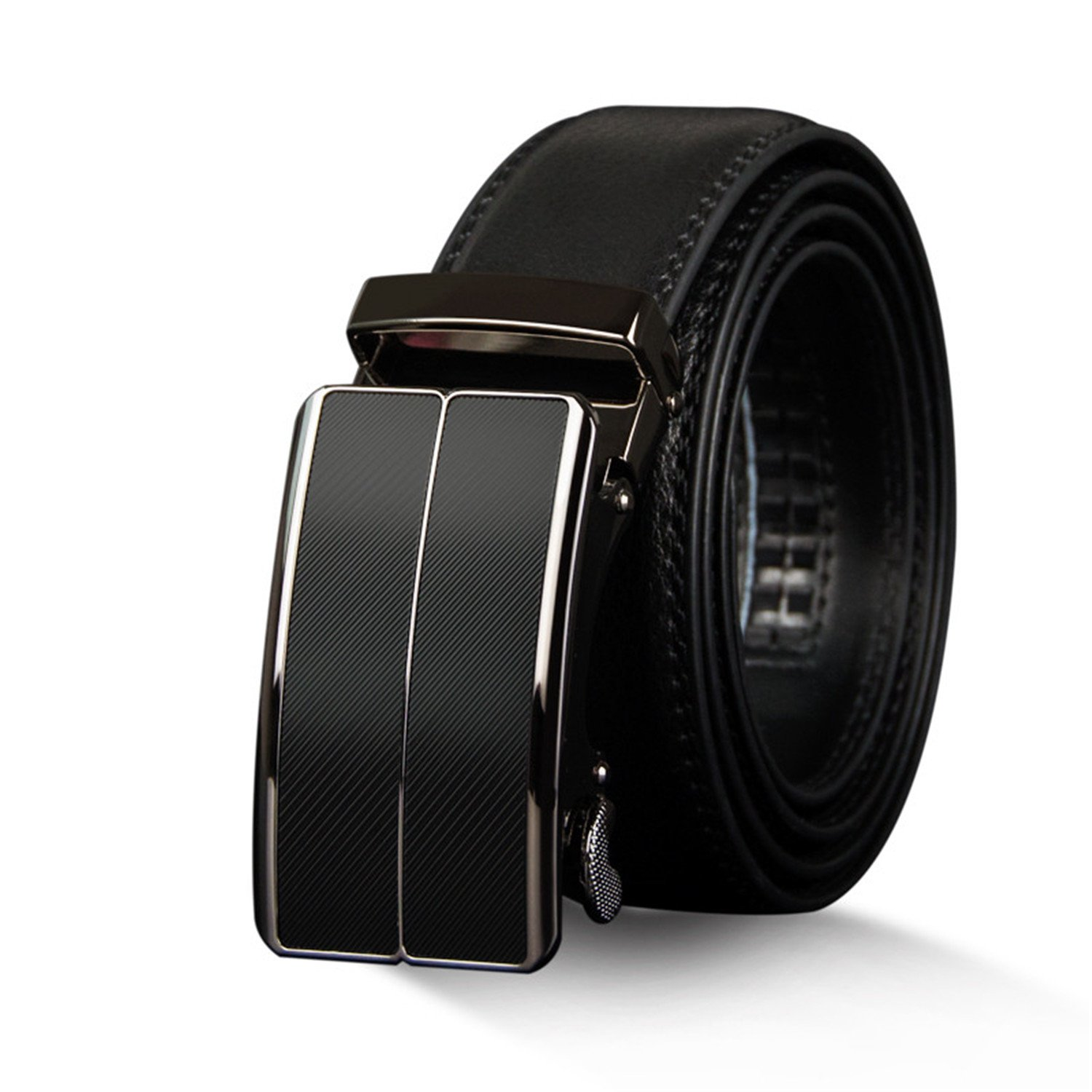 New Arrival cow genuine leather mens belt cowhide strap for male automatic buckle belts