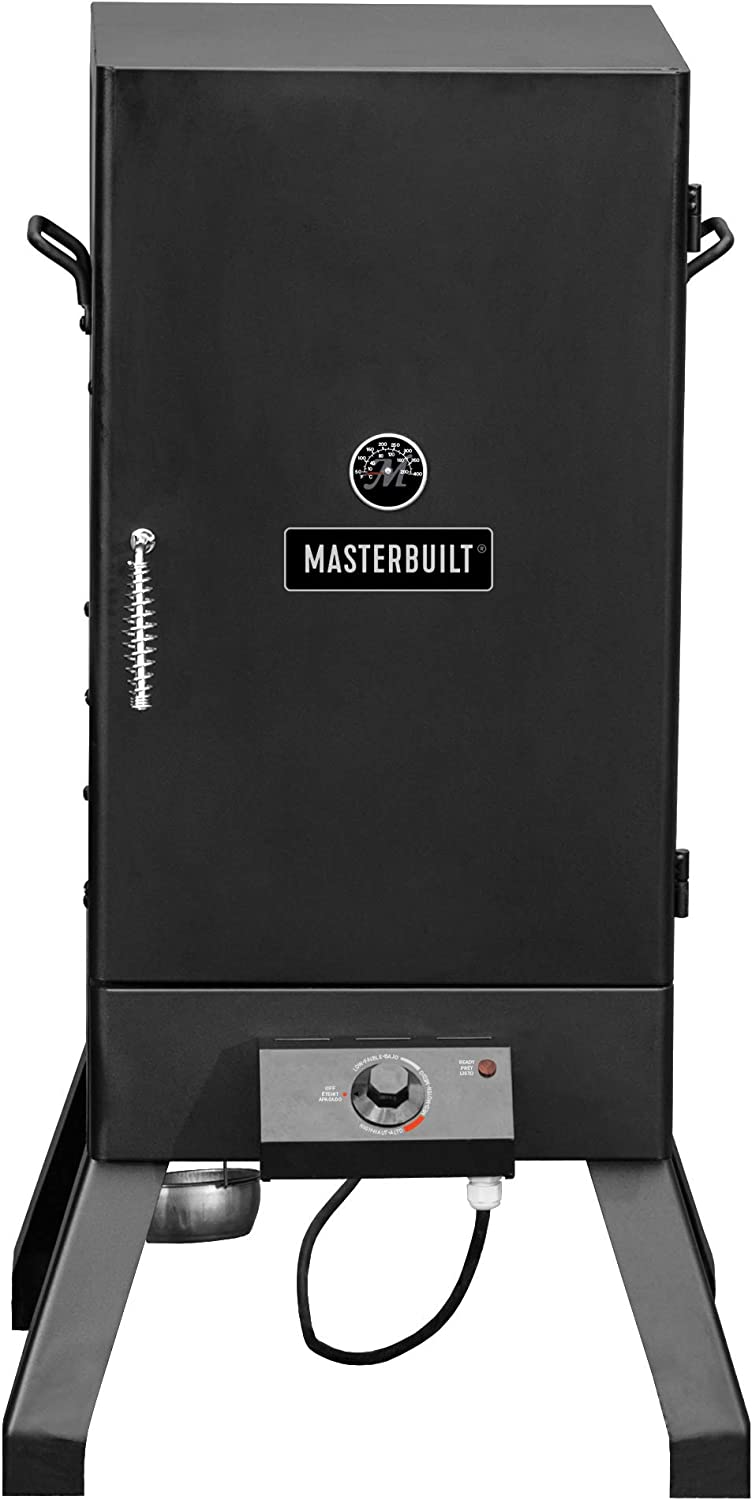 Best beginner Analog: Masterbuilt MB20077618 electric smoker