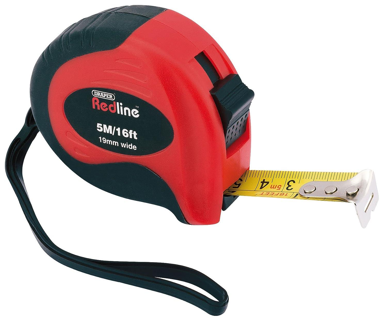 Draper Redline 69054 5 m//16 ft Soft Grip Metric//Imperial Measuring Tape