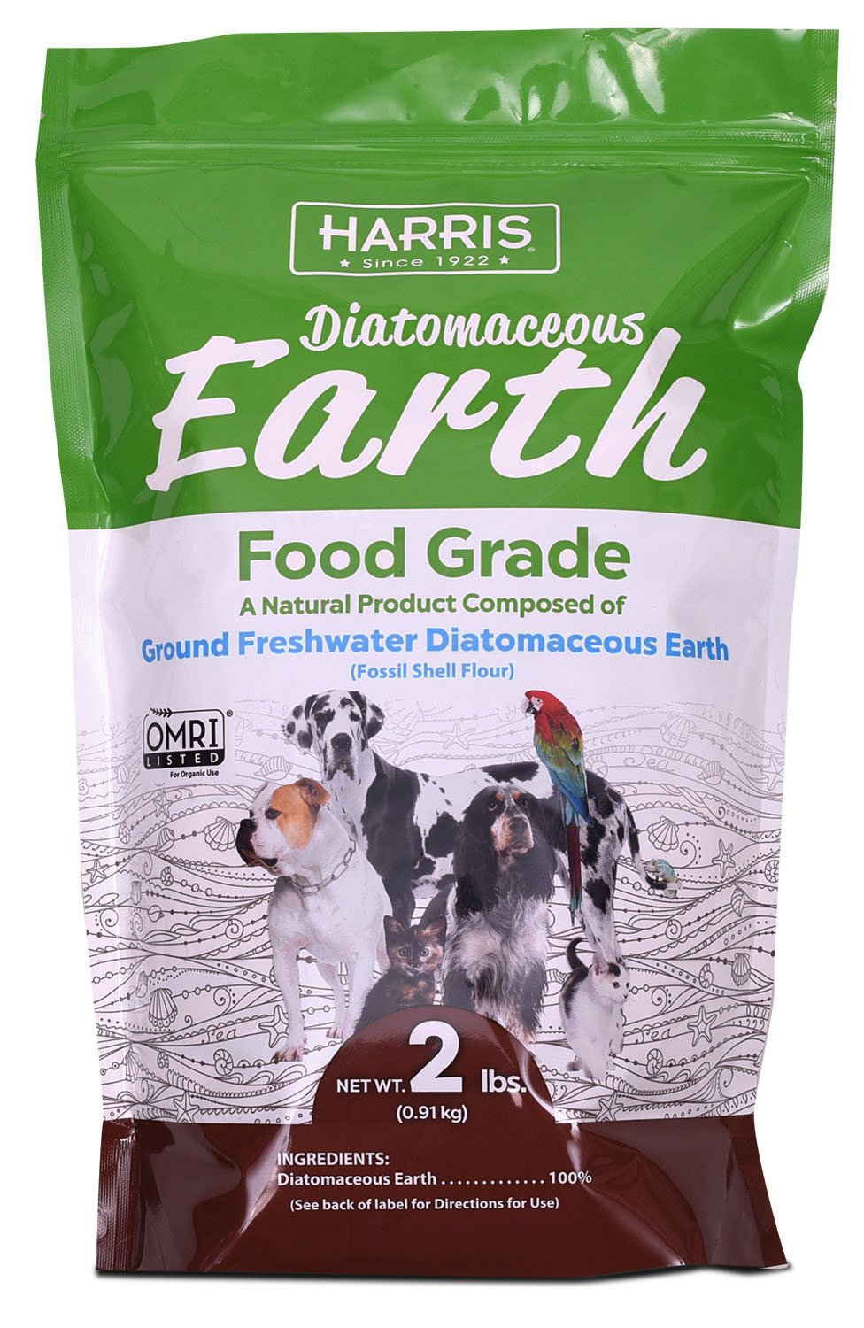Harris Food Grade Diatomaceous Earth for Pets, for Cats, Dogs, Horses and Pets, 2lb by Harris