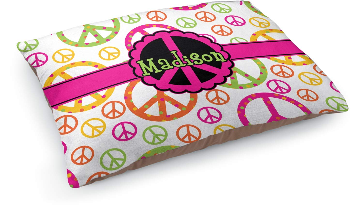 YouCustomizeIt Peace Sign Dog Pillow Bed (Personalized)