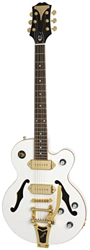Epiphone WILDKAT Royale Semi-Hollowbody Electric Guitar with Bigsby Tremolo, Pearl White