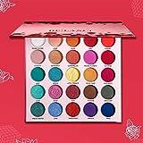 DE'LANCI Eyeshadow Palette Makeup,25 Color Bold Natural Eye Shadows High Pigmented Makeup Pallete Pop Dramatic Eye Shadow Lit
