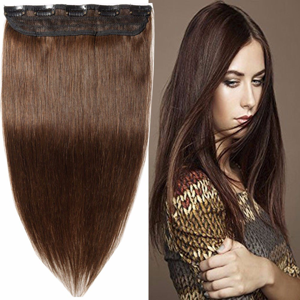 Amazon 100 Remy Clip In Human Hair Extensions Medium Brown 16