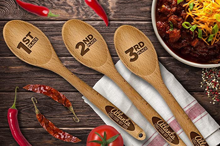 Laminated! Reusable! Chili Cook Off Pot Table Name Tag with FREE Wet Erase Marker Set of 6