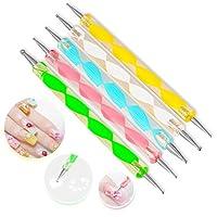 JUNGEN 5Psc Kit de Manicura de Pintura Pincel punta brocha decorar nail art arte diseño manicura uñas Herramienta de Manicura