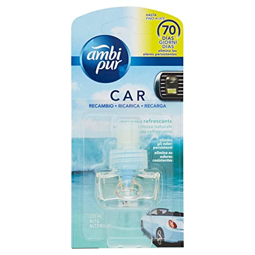 Ambi Pur Car Torrente Refrescante Recambio Para Ambientador - 7 ml: Amazon.es: Amazon Pantry