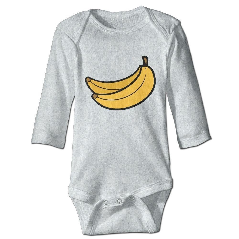braeccesuit Infant Funny Banana Long Sleeve Romper Onesie Bodysuit Jumpsuit