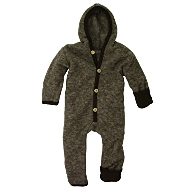 27bec45bb Cosilana - Baby Hooded Overall With Scratch Protection on Arms and ...