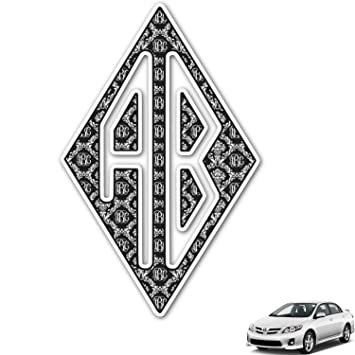 Amazoncom Monogrammed Damask Monogram Car Decal Personalized - Monogram car decal amazon