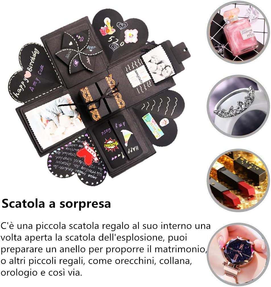 Amycute Explosion Box,caja sorpresa creativa DIY Scrapbook hecho a ...
