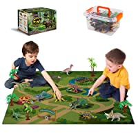 Dinosaur Toys - 12 Realistic Dinosaur Figures, Activity Kids Play Mat & Trees for...
