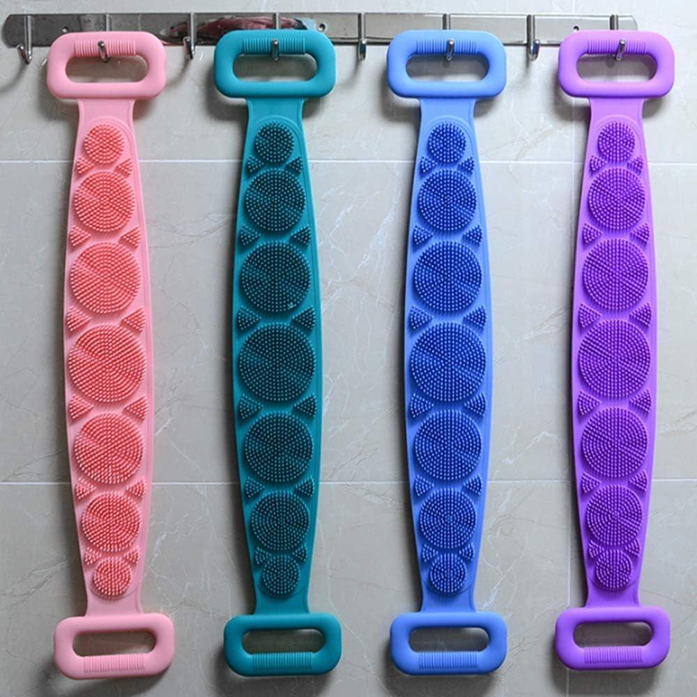 Masaje corporal F/ácil de limpiar Toalla de ba/ño de silicona Frotando artefacto Toalla pelada de espalda larga,Toalla de ba/ño de silicona Toalla de ba/ño para hombres Mujeres Azul