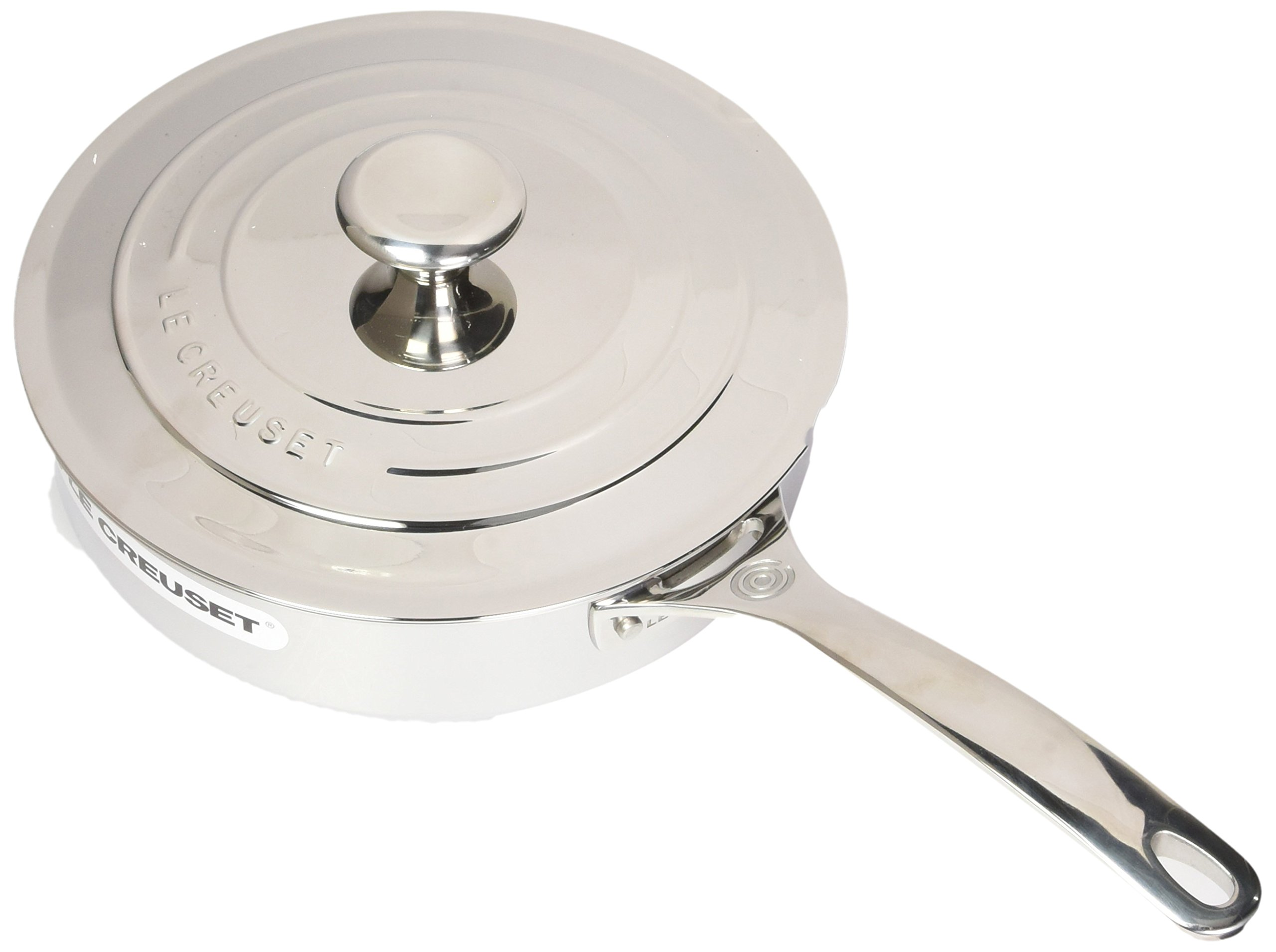 Le Creuset Tri-Ply Stainless Steel Saute Pan with Lid, 3-Quart