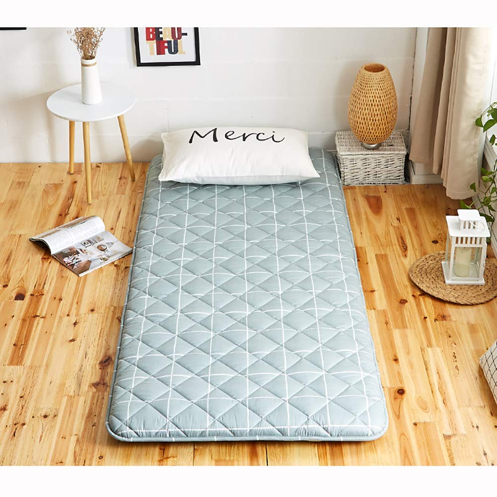 Japanese Tatami Mattress Topper Futon, Collapsible Dormitory Floor Mattress Protector Sleeping pad Single Double Bed mats-A 90x190x6cm GJFLife