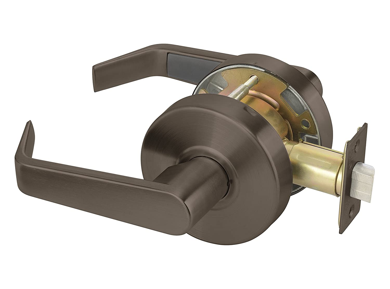 Schlage ND Series Commercial Cylindrical lock Lever ND60RD RHO 626 ND60RDRHO626 Rhodes US26D Satin Chromium Plated Vestibule//Classroom Full Size Conventional Interchangeable Core Installed and 2 Keys
