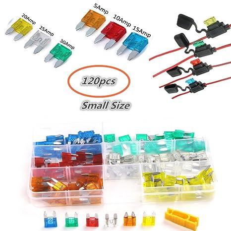 6 Different Mini Automotive Blade Fuse-#5amp,10amp,15amp,20amp,25amp,30amp