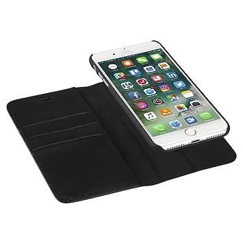 CASEZA Housse iPhone 8 Plus Housse iPhone 7 Plus Noir Zurich Étui  Portefeuille Détachable Cuir 90318ab7590