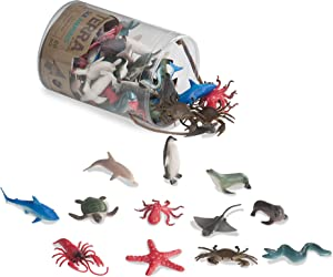 "Toysmith Battat Terra Sea Animals in Tube Playset, Multi, 2"" (68812)"