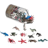 Terra by Battat - Sea Animals in Tube Playset - Animal Figures for Kids - 60pcs