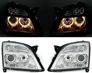 Angel Eyes Scheinwerfer Set Klarglas Chrom Mit Standlichtringe Auto