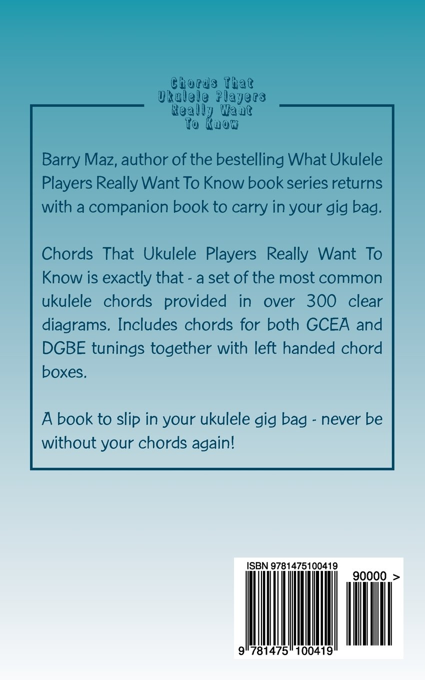 Amazon chords that ukulele players really want to know amazon chords that ukulele players really want to know 9781475100419 barry maz books hexwebz Choice Image