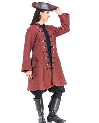 cceaf00ca4f Amazon.com  Captain Jacquotte Delahaye Pirate Renaissance Medieval Womens  Costume Coat  Clothing