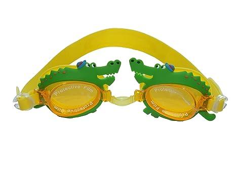 Los niños gafas de natación de cocodrilo antiparras ...
