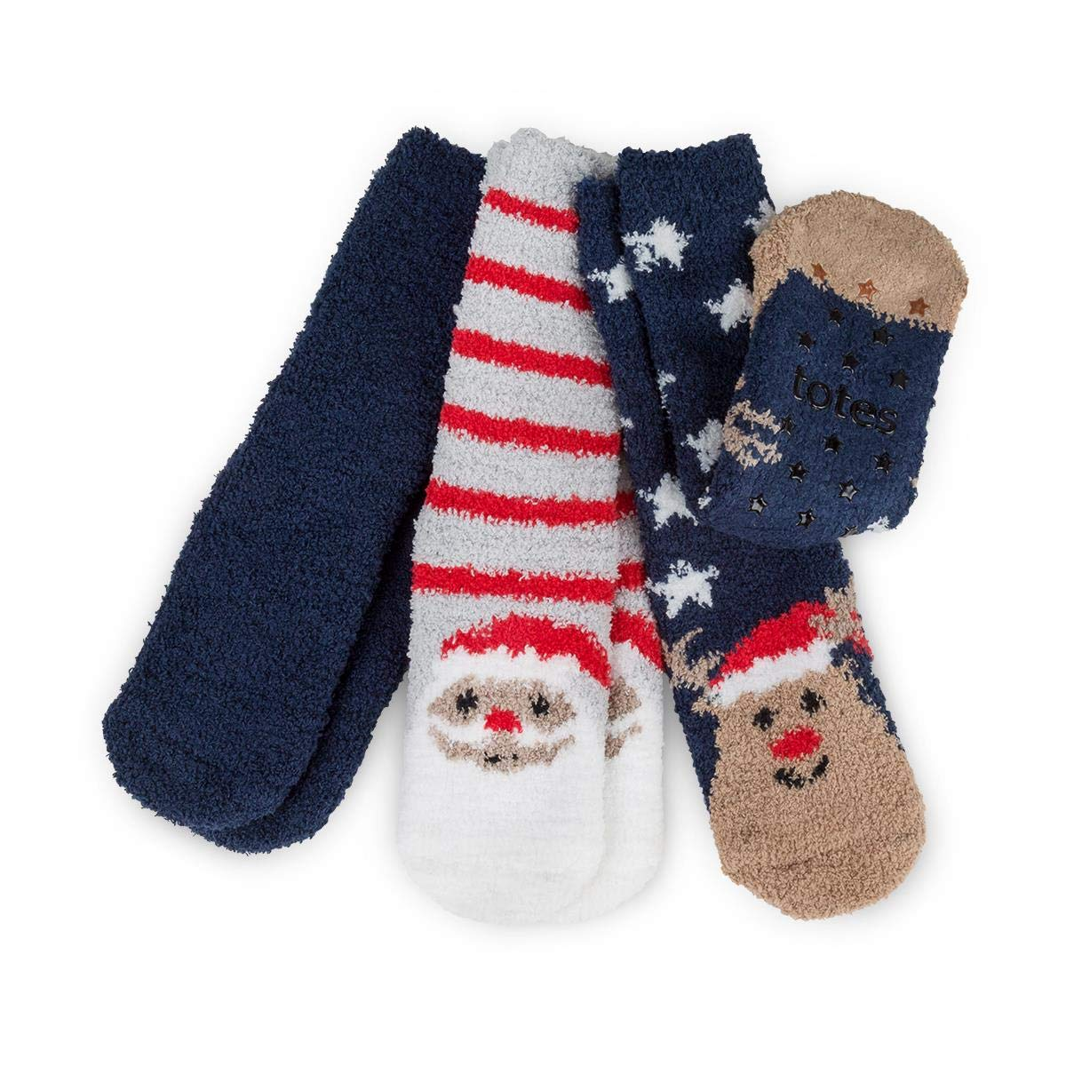 totes Childrens Christmas Cosy Socks (Triple Pack) 3510