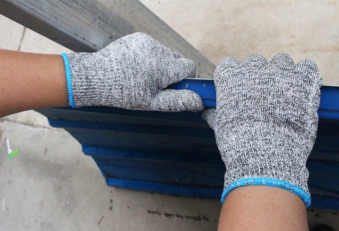 Schwer Cut Resistant Gloves-Food Grade Level 5 Safety Garden Work ...