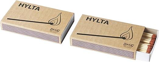 IKEA HYLTA - caja de cerillas de 2 paquetes: Amazon.es: Hogar