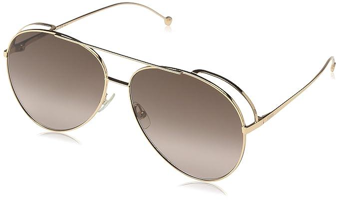5285f7deb839 Amazon.com  Fendi Women s Double Rim Aviator Sunglasses