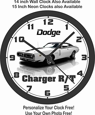 amazon 1971 dodge charger r t wall clock home kitchen 1970 Plymouth Belvedere Interior