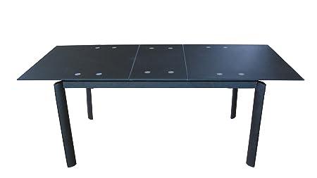 Beco comedor e06009 de SCH mesa de cristal negro efecto de cristal ...