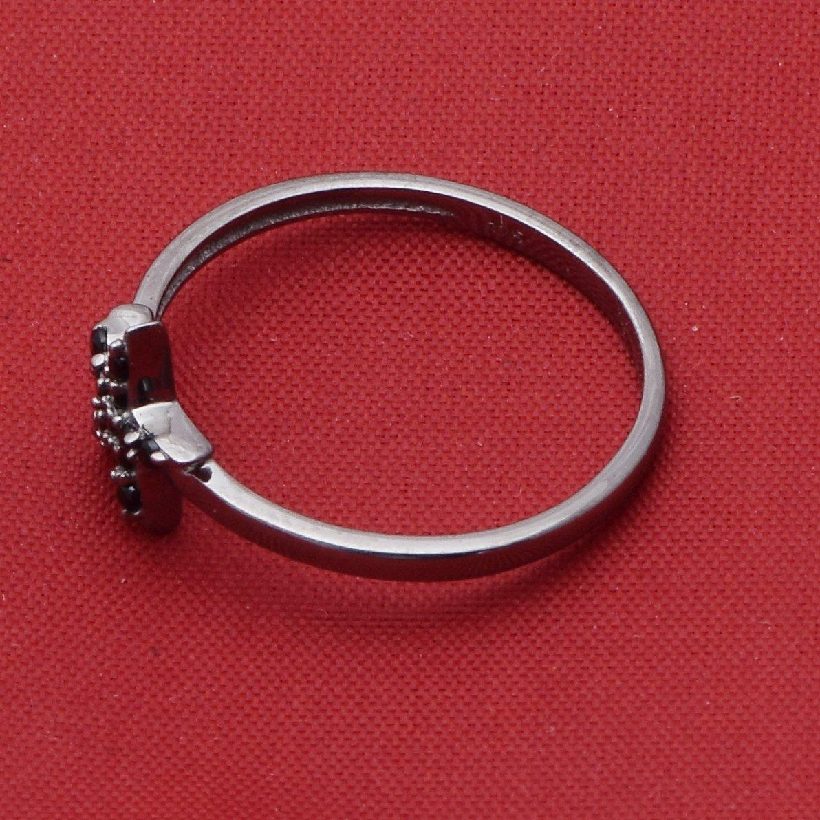 Shine Jewel Estrella diseño Negro espinela Piedra Mujer ...
