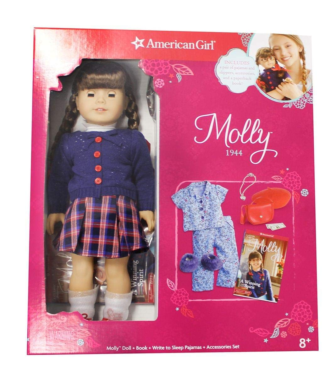 Book Pajamas Accessories Set AG American Girl Molly Doll 1944