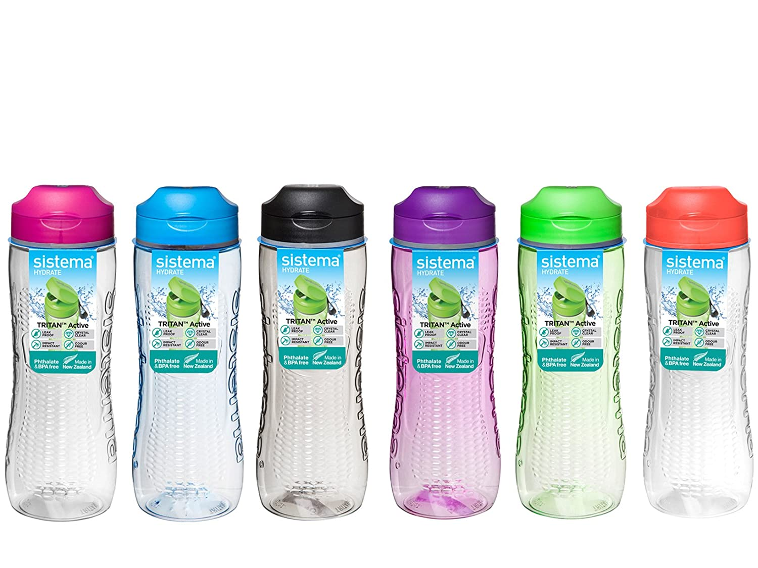 800 ml Sistema Hydrate Tritan Active Bottle Black