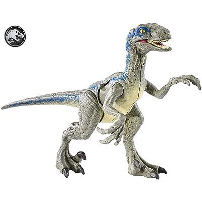 Jurassic World Battle Damage Velociraptor Blue: Toys & Games [5Bkhe0907257]