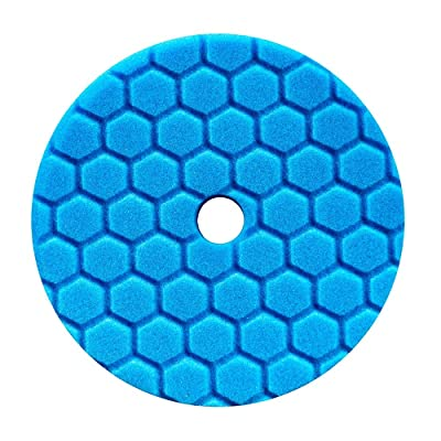 Chemical Guys BUFX115HEX5 Hex-Logic Quantum Polishing/Finishing Pad, Blue (5.5 Inch Pad made for 5 Inch backing plates): Automotive