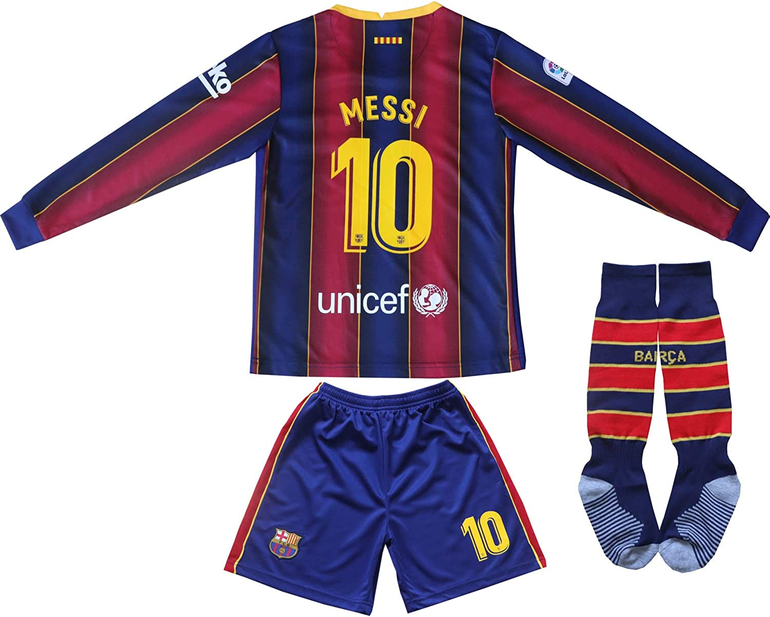 Da Games Youth Sportswear No 10 Kids Home Soccer Jersey/Shorts Football Socks Set