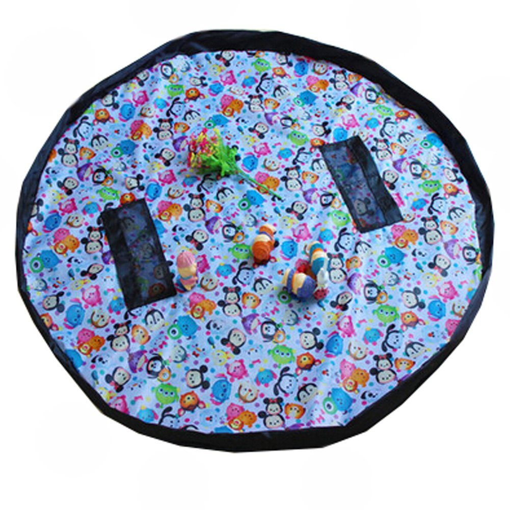 Baby Kids Play Floor Mat Toy Storage Bag Quickly Easily Folds Up,Cute Animals