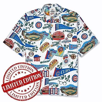 Amazon.com  Reyn Spooner Chicago Cubs Hawaiian Cotton Shirt Limited ... 4b29babb2