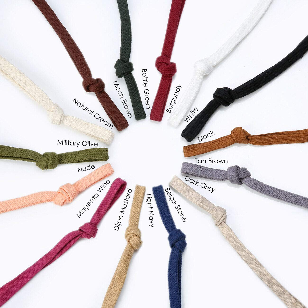 Sweatshirt Hoodie Flat Cotton Tape Ribbon Cord Rope,10 & 15mm,Garment Hoody Drawstring. 26 Colours, 1mt, 5mts, 25mts and 45mts Rolls. Colours Match Neotrims Flanged 12mm Piping and 6mm Round Cord by Neotrims Fastening Tapes, Hook & Eye, Poppers & More (Image #5)