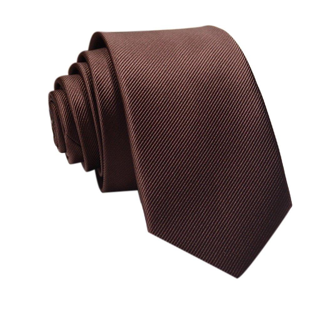 Men's Tie Casual Slim Plain Mens Solid Skinny Neck Party Wedding Tie Necktie (H)