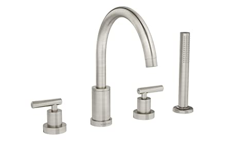 Symmons SRT-4372-STN Sereno 2-Handle Roman Tub Faucet with Hand ...