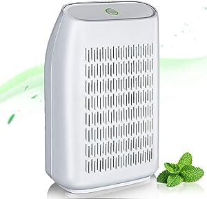 Mini Dehumidifier,23oz(700ml)Electric Small Dehumidifier for Home Bedroom Bathroom Basements Closet RV Room,Compact and Portable for High Humidity, Auto Shut Off, Ultra Quiet