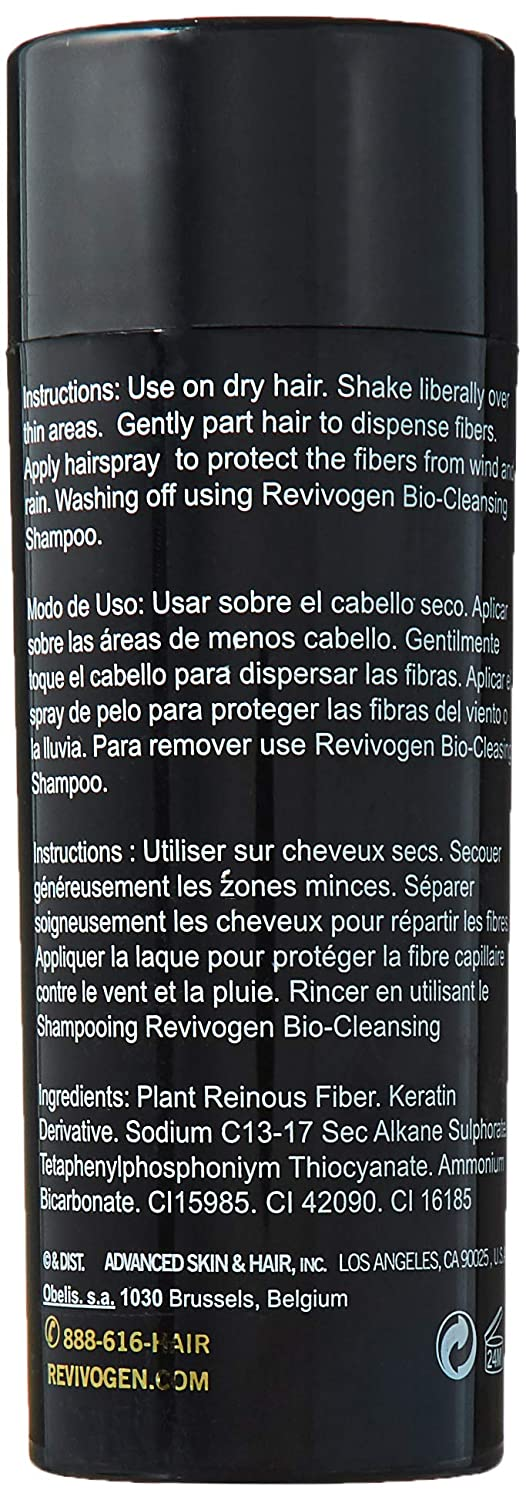 Revivogen MD Keratin Hair Building Fibers, Dark Brown, Unscented, 0.9 oz.