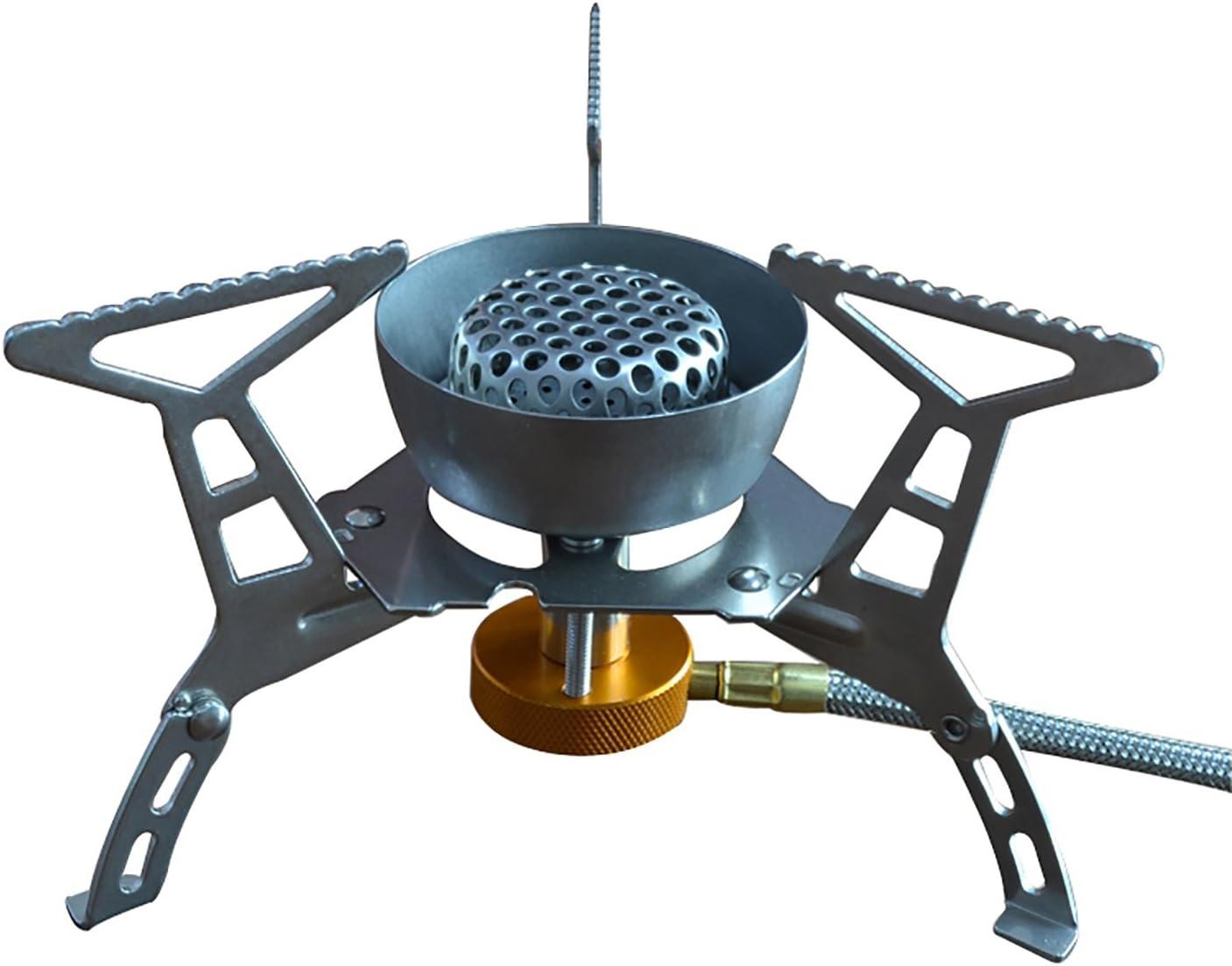 DESERT & FOX Mini Estufa de Camping Ultraligera, aleación de Titanio, Plegable, automática, para picnics, cocinas, Camping, Senderismo